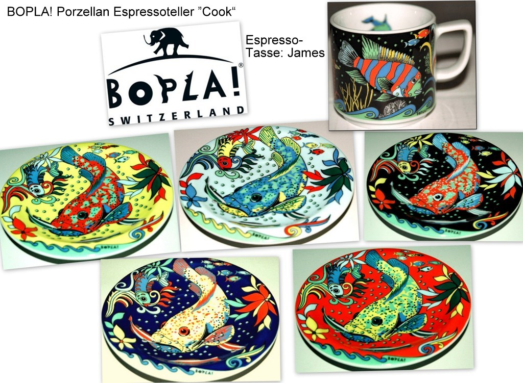 Cook Bopla Design Porzellan Ocean Untertasse Espresso